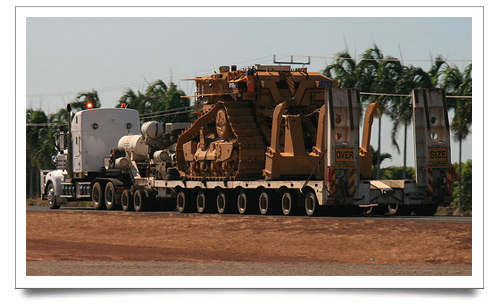 CAT D11R bulldozer being transported - digger hire with driver Berkshire