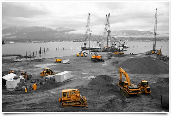 Excavators, bulldozers, wheel-loaders, cranes, articulated dump-trucks, digger hire with driver surrey