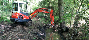 ditch cleaning and ditching throughout Berkshire, Hampshire and Surrey