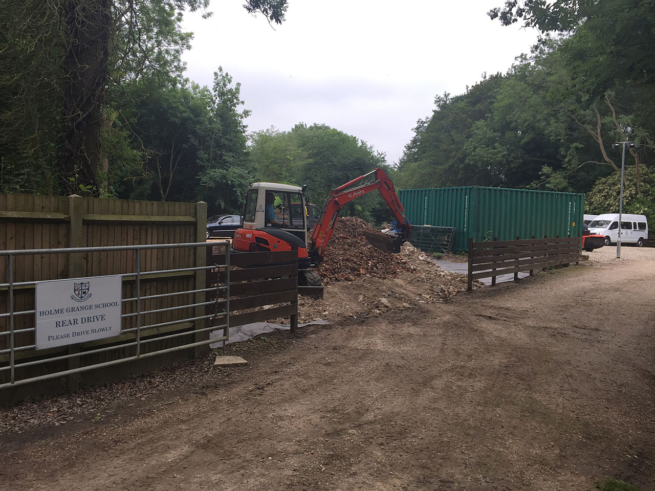 Image of Excavator hire Berkshire - let the digger do it - Holme Grange School