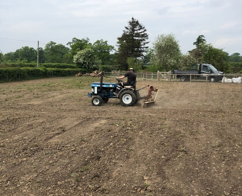 Levelling ground and clearing ground for a paddock Berkshire - digger hire with a driver for levelling ground and clearing ground Berkshire Hampshire Surrey