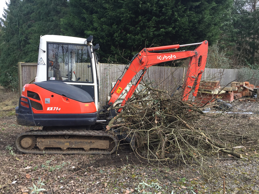 Mini digger hire with driver Guildford